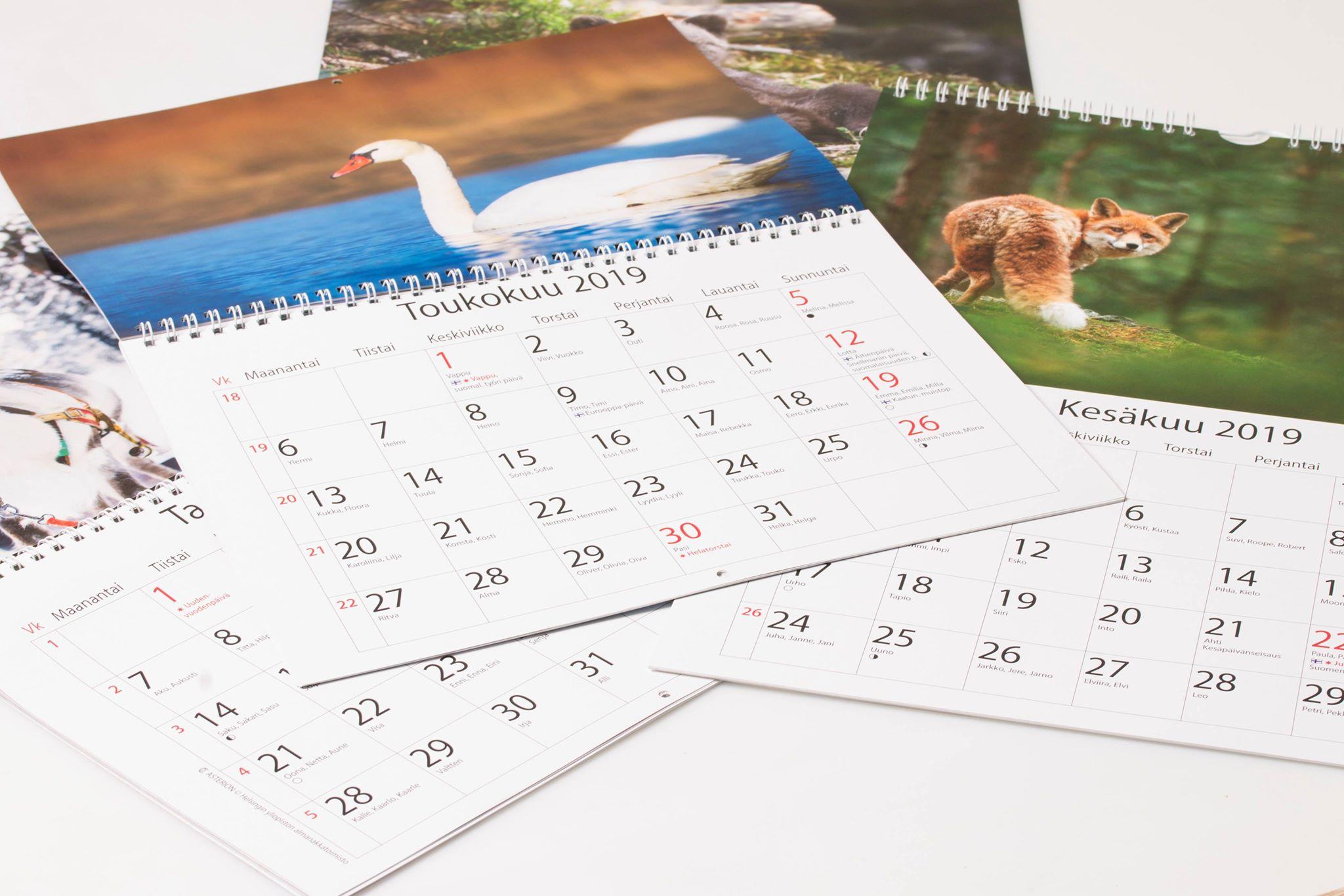 seinäkalenterit yrityksesi kuvilla