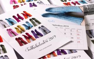 seinäkalentereista ja sukkaohjeista bisnesidea